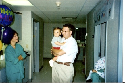 Dad and Will at NRMC 95