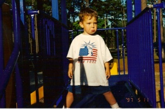 Playing at Hugh McRae Park May 1997